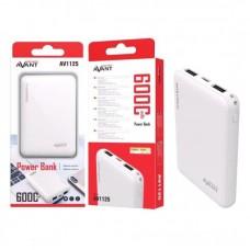 Power Bank AVANT 6000MAH- Branco