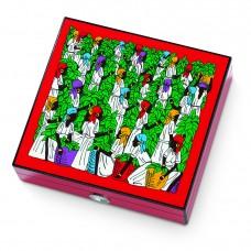 Caixa humidificadora p/ charutos EGOIST ROYALE Vermelha Refª JK128