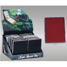 Cigarreira Metal e Pele para 20 Cigarros Refª WH400023