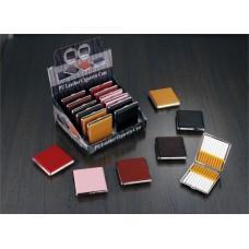 Cigarreira Metal e Pele para 20 Cigarros Refª WH400060