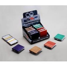 Cigarreira Metal e Pele para 20 Cigarros Refª WH400070