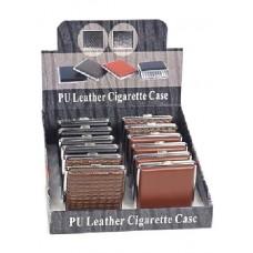 Cigarreira metal e pele (20cig.) Refª ZC4399