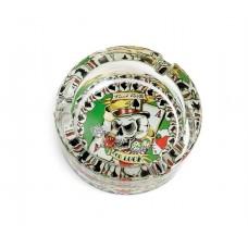 Cinzeiro de vidro TATTOO by FRANK APPLE refªCO5009C