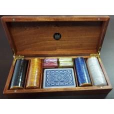 Caixa em Madeira c/ 28x12x5cm c/ fichas + Cartas Refª JU00212