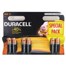 Pilhas Duracell Alcalina AA-LR6-BL6