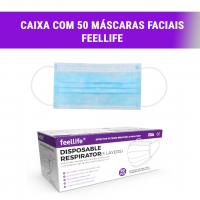 Caixa c/ 50 Máscaras Faciais Feel Life