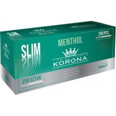 Caixa c/ 250 Tubos Korona Slim Menthol